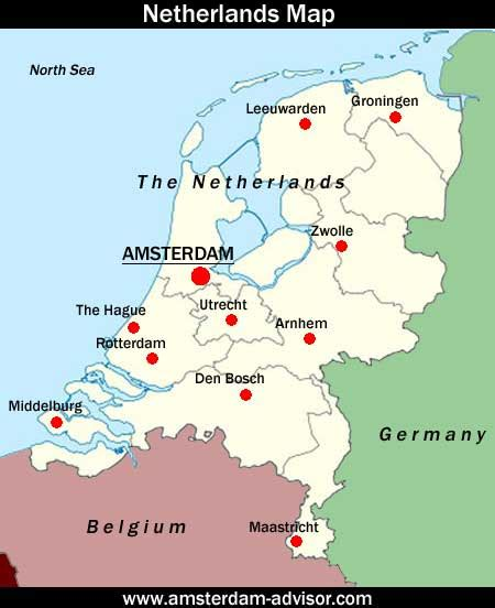 where is amsterdam on the map where is amsterdam location of amsterdam on the world map
