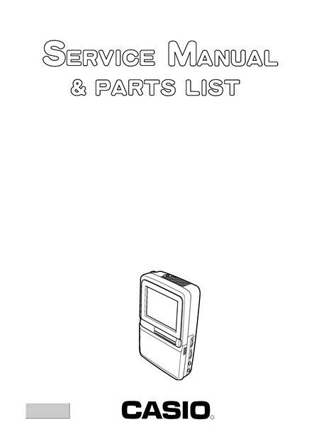 CASIO EV510D - Service Manual Immediate Download