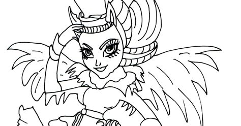 monster high avea trotter coloring pages free printable monster high coloring pages avea trotter
