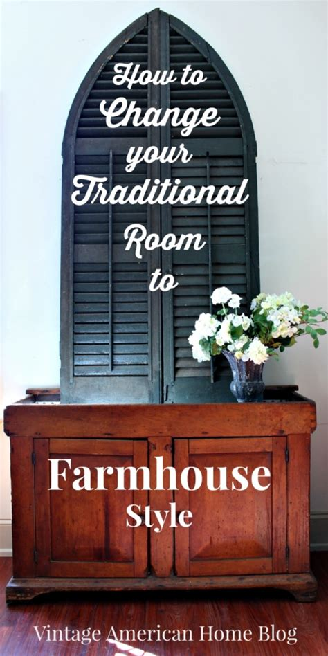 fixer farmhouse style update in just one room