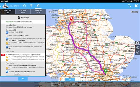 viamichelin route planner,maps (android)