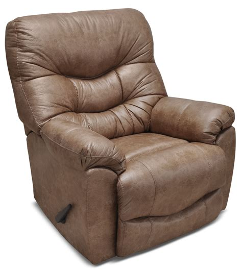 recliners that look like regular chairs 4595 leather look fabric rocker reclining chair camel