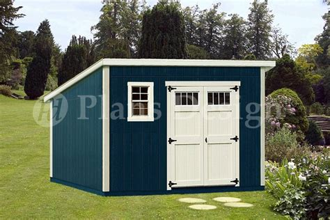 Modern Storage Shed Plans by 10 X 12 Deluxe Modern Garden Storage Shed Plans Design