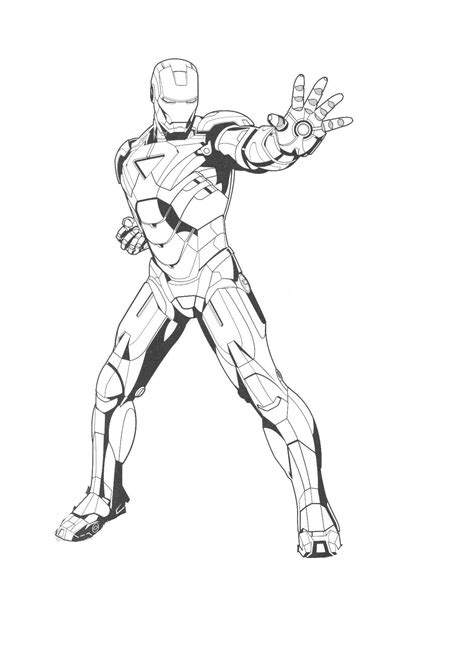 Ironman Coloring Pages free printable iron coloring pages for best