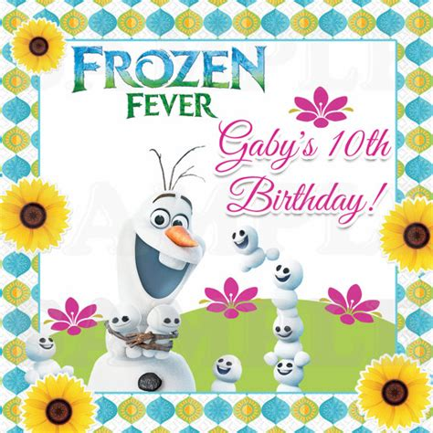Promo Legging Printing Frozen Fever items similar to frozen fever olaf summer birthday personalized
