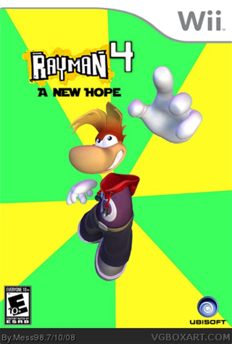 Dijamin Ps4 Rabbids New rayman 4 wii box cover by mess98
