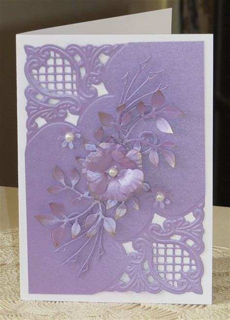 Handmade Cards 2014 - handmade card with anja corners die cut leaves and