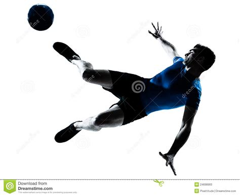 Kickers Animation soccer football player flying kicking stock photos image 24698993