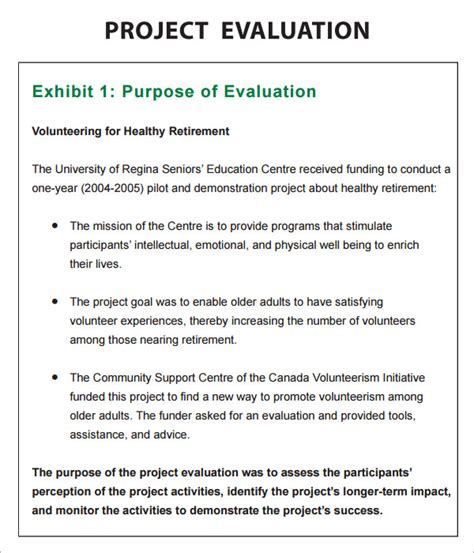 project evaluation form template project evaluation 9 free documents in pdf