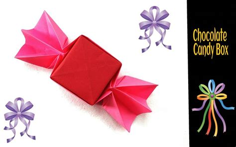 Chocolate Origami - origami paper chocolate box origami