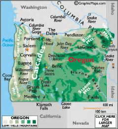 map of oregon mountain ranges geography of oregon world atlas