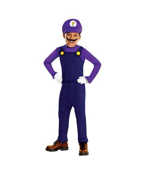 kids super mario waluigi costume boys costumes