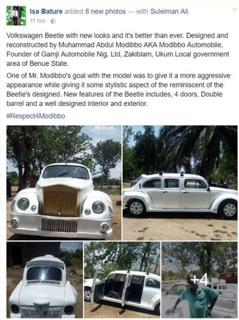 roll royce nigeria photos redesigns a beetle tortoise car