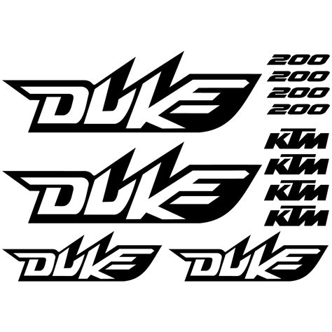 Ktm Aufkleber Kit by Wallstickers Folies Ktm 200 Duke Decal Stickers Kit