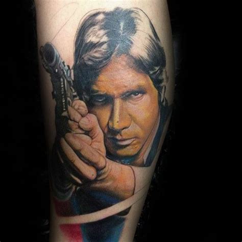 han solo tattoo 50 han designs for wars ideas