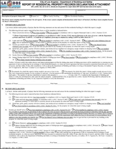 Report Of Residential Property Records Metro Retrofitting Rpr Form 9 Ladbs
