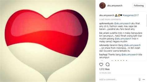 emoji bendera indonesia bendera terbalik penyanyi malaysia posting emoji cinta