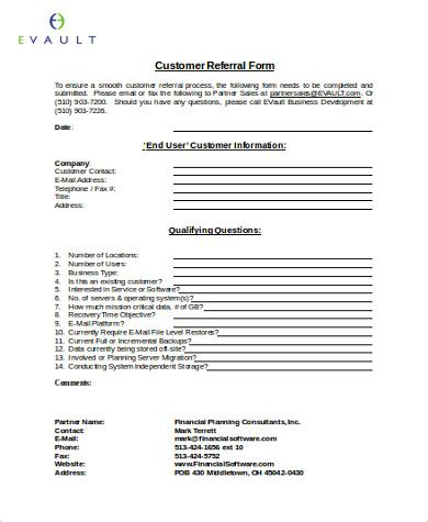 referral partner agreement template sle business referral agreement 8 exles in word pdf