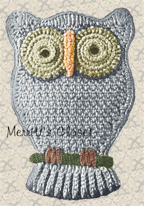 vintage owl pattern favorite owl potholder vintage crochet pattern instant