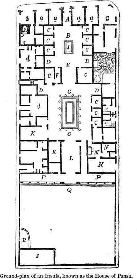insula floor plan floor plan of a pompeian house