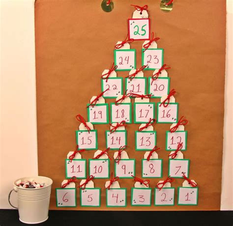 printable homemade advent calendar homemade advent calendar kraft paper candy