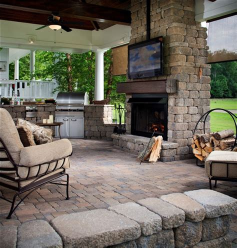 outside living room cozy outdoor living space with tv stand furniture