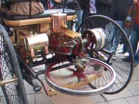 first car ever made with engine the first car ever running live the benz motorwagen 1885