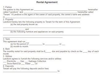 Free Rental Agreement Forms Download Rental Lease And Agreements House Rental Rental House Contract Template Free