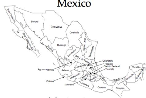 coloring page mexico map best photos of coloring map of mexico printable mexico