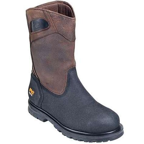 timberland slip on work boots timberland s powerwelt wellington steel toe slip on