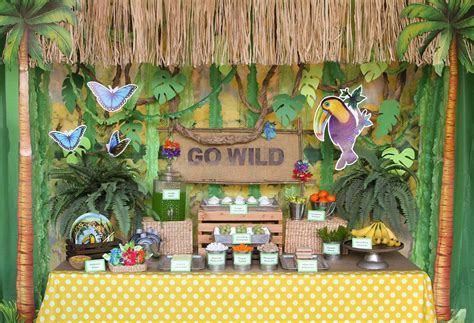 Decoration Theme Jungle by Jungle Ideas Animal Ideas At Birthday In A Box