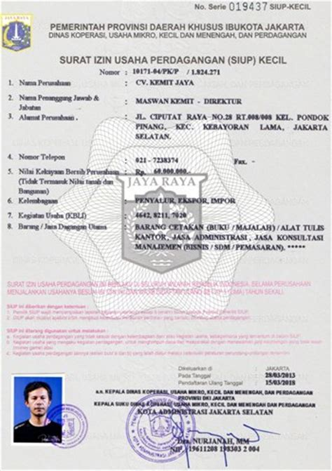 siup surat ijin usaha perdagangan motorcycle review and