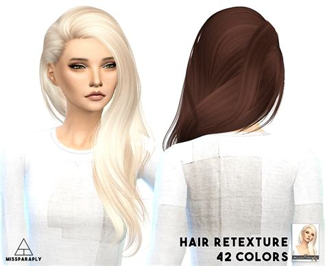 Sims 4 Cc Hair Retextures | my sims 4 blog alesso hair retexture by missparaply