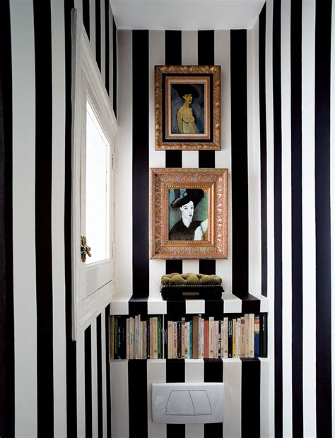 Bathroom Wallpaper Stripes by Wallpapered Cloakrooms Powder Rooms Sense