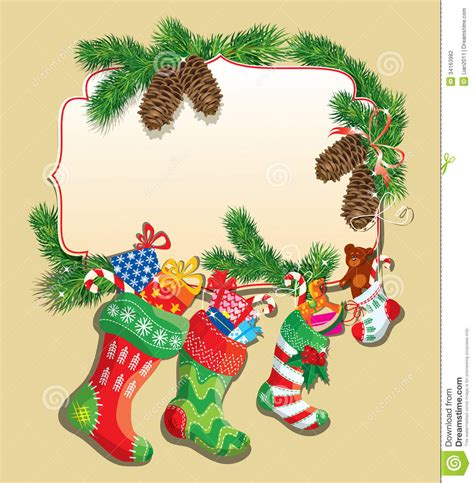 christmas decorations for invitations and greeting cards winter toy