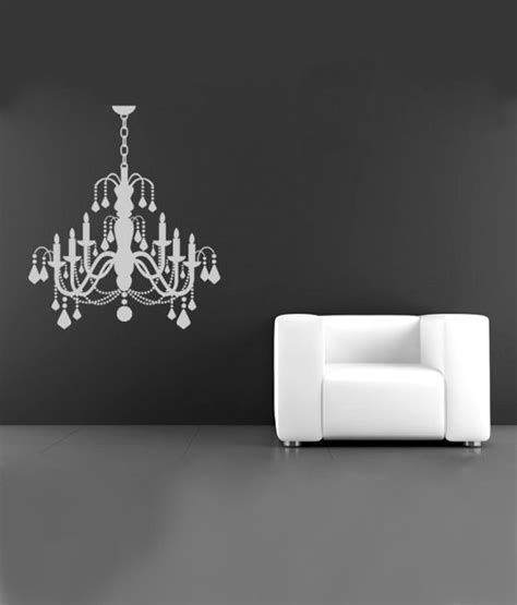 white chandelier wall decal destudio white chandelier wall decal buy destudio white chandelier wall decal at best