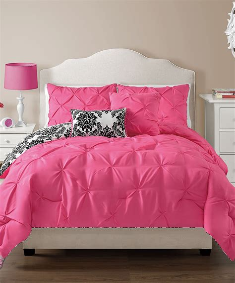 pink reversible comforter vcny home hot pink olivia reversible comforter set zulily