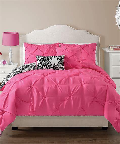 hot pink comforter set vcny home hot pink olivia reversible comforter set zulily