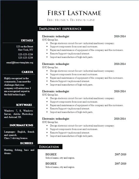 resume format free in ms word 2010 curriculum vitae in ms word malawi research