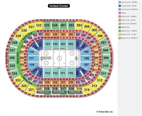 united center seating map united center chicago il seating chart view