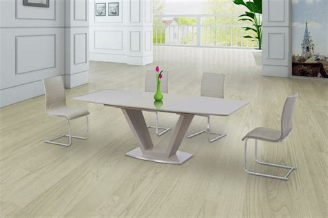 Extending Glass Dining Table And Chairs Glass High Gloss Extending Dining Table And 8 Gloss Chairs