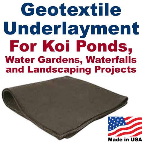 Landscape Fabric Liner 10 X 10 Geotextile Pond Underlayment Landscape Fabric