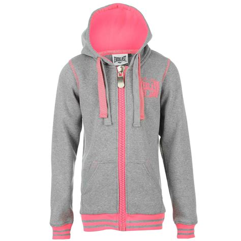 Jaket Hoodie Sweater Juventus Grey everlast fluorescent zip hoody womens grey marl