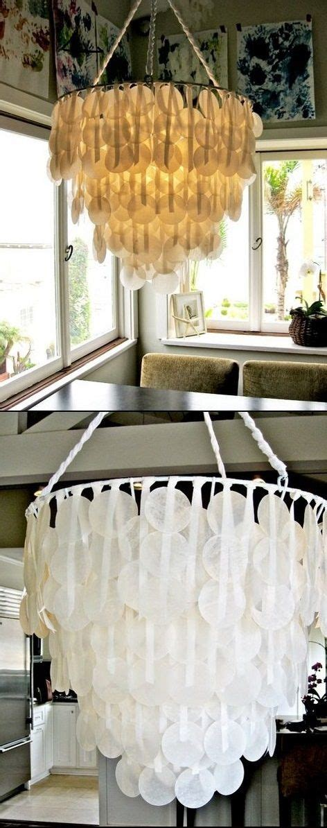 Gold Chandelier Terraria Diy Project Paper Capiz Shell Chandelier Ideas Diy And