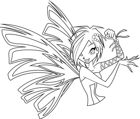 tecna sirenix coloring page by icantunloveyou on deviantart