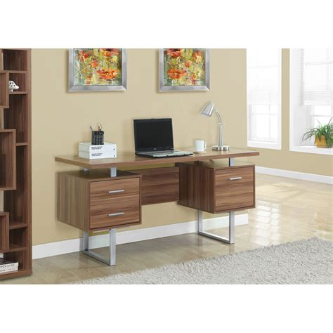 Walnut Home Office Furniture Walnut 60 Inch Office Desk Hawthorne Ave Desks Computer Desks Home Office Furniture