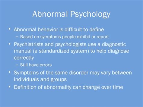 abnormalpsych personality abnormal psychology concepts of normality