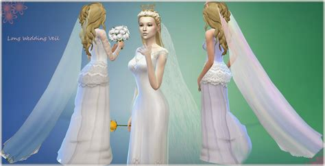 sims 4 wedding mythical dreams sims 4 long wedding veil