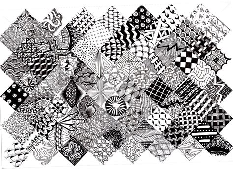 doodler pattern zentangle pattern quilt 2 by thelonelymaiden on