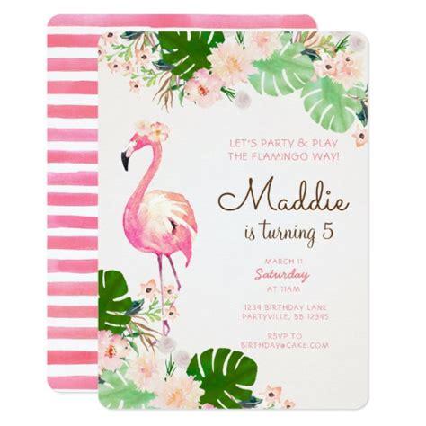 Flamingo Birthday Invitation Zazzle Com Flamingo Invitation Template Free
